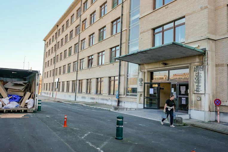oud gebouw omgevormd tot veldhospitaal