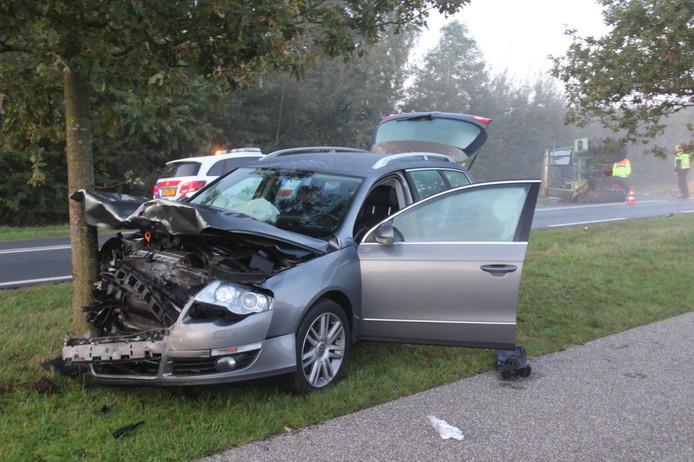 Veel schade bij het ongeval.