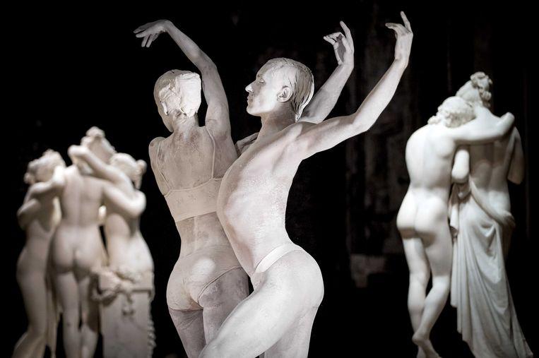Opnames van de voorstelling 'New Classics' door Het Nationale Ballet in de Hermitage, Amsterdam. Beeld ANP