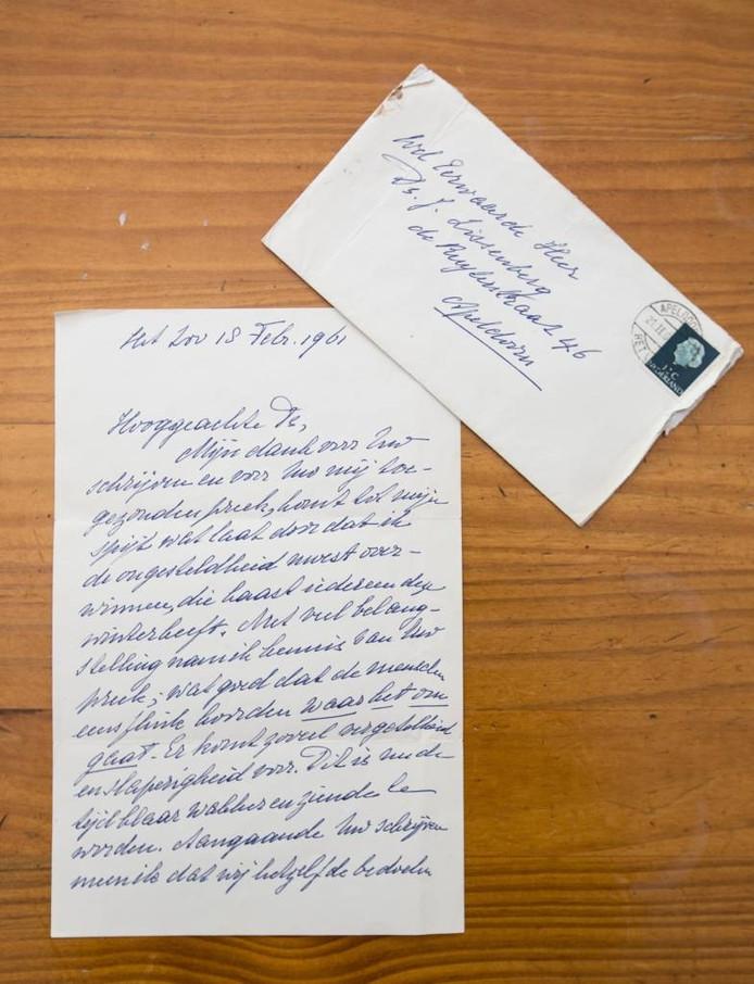 De handgeschreven brief van Wilhelmina aan dominee Jac Lissenberg