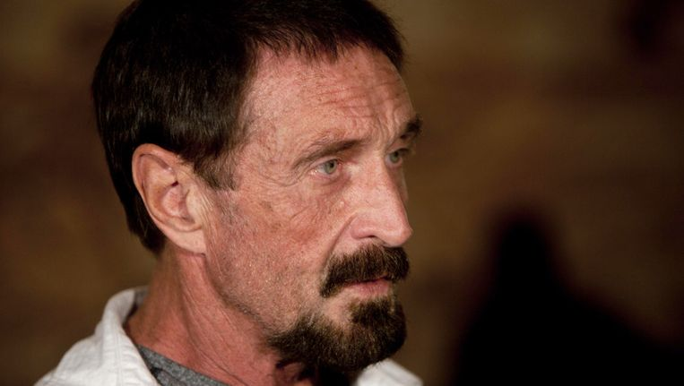 Amerikaanse softwarelegende John McAfee Beeld ap