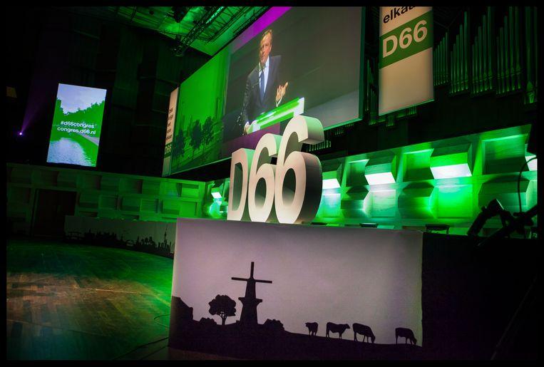Is D66 in de eeuwige strijd met GroenLinks straks de partij die wél iets voor elkaar krijgt? Beeld Foto Maarten Hartman.