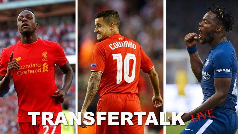 Origi (l) trekt naar Wolfsburg en Batshuayi (r) lijkt (voorlopig) bij Chelsea te blijven. Trekt Coutinho alsnog naar FC Barcelona?