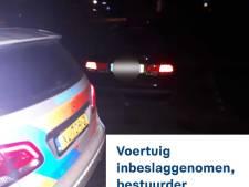 Politie neemt auto in beslag van bestuurder die reed terwijl rijbewijs was ingevorderd
