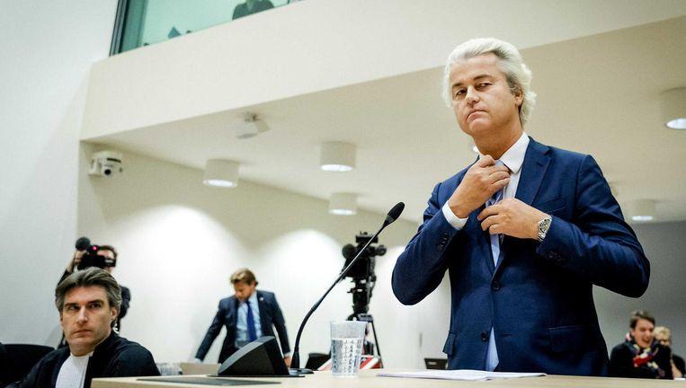 Wilders in de rechtbank Beeld anp