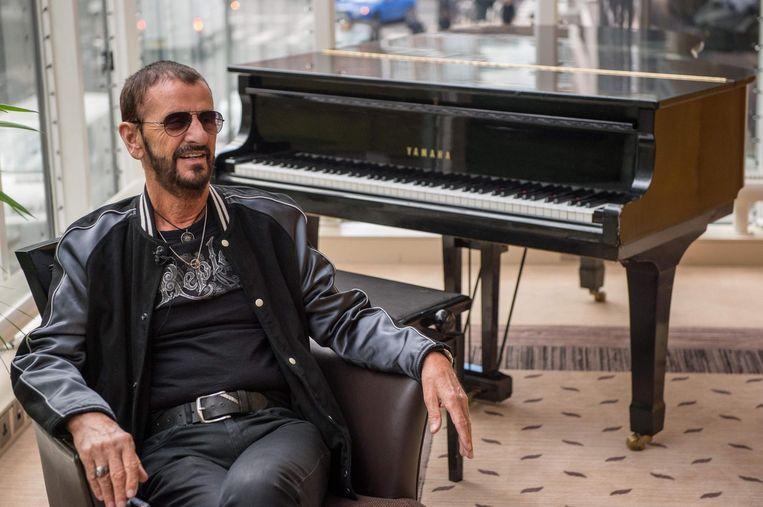 Beatle Ringo Starr gaat voortaan door het leven als Sir Ringo Starr. Beeld afp