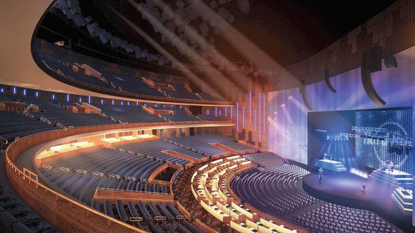 Het concertgebouw is indrukwekkend.