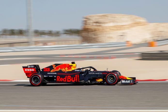 Max Vestappen op het circuit van Sakhir in Bahrein, archieffoto.