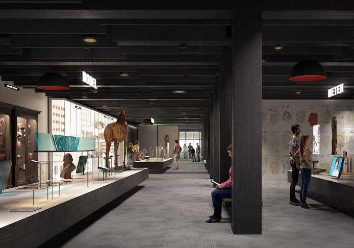 Een simulatie van hoe de binnenkant van het Gents Universiteitsmuseum er zal uitzien.