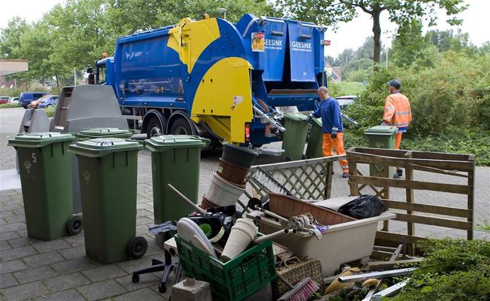 Het afval eindigt niet altijd in de container.