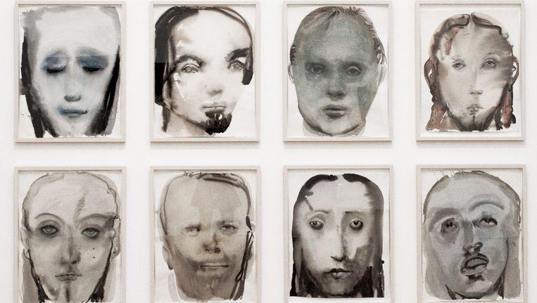'Jesus serene' op de overzichtstentoonstelling van Marlene Dumas in het Stedelijk museum te Amsterdam. Loopt van 6 september 2014 tot 5 januari 2015. Beeld -