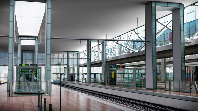 Zo moet de binnenkant van het station er gaan uitzien.