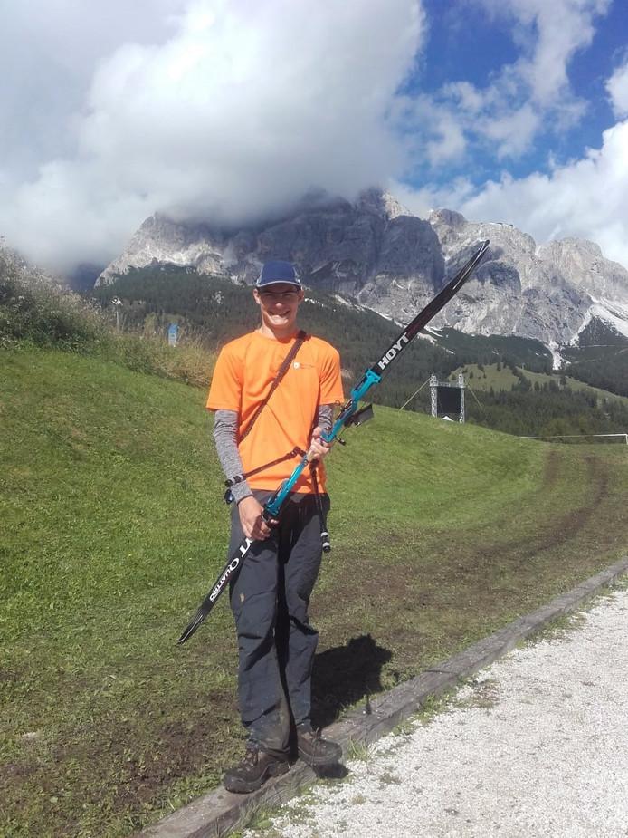 Waalrenaar Willem Bakker in het Italiaanse Cortina d_Ampezzo.