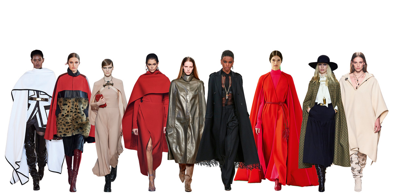 Vanaf links: Balmain, Longchamp, Valentino, Givenchy, Salvatore Ferragamo, Christian Dior, Carolina Herrera, Celine, Isabel Marant. Beeld Imaxtree