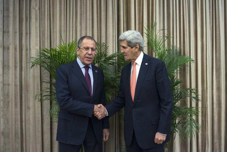John Kerry (R) en Sergei Lavrov Beeld reuters