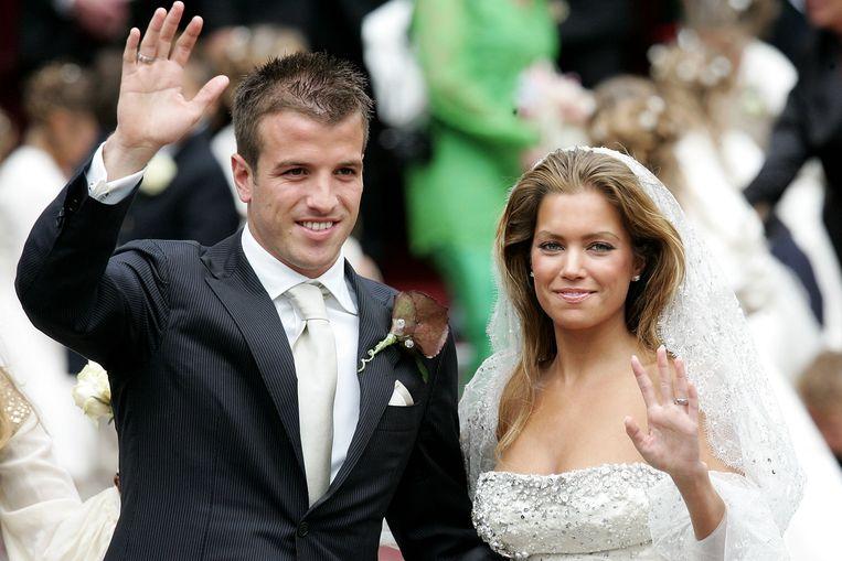 Sylvie en Rafael op hun trouwdag.