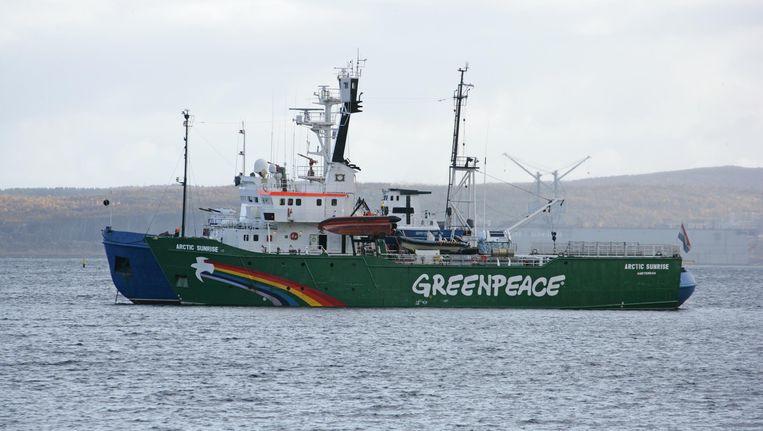 Greenpeace-schip Arctic Sunrise Beeld AFP