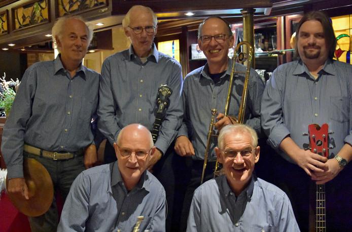 De Jay Jay's Border Jazzmen treedt zondag op tijdens een koffieconcert bij muziekvereniging KSW.