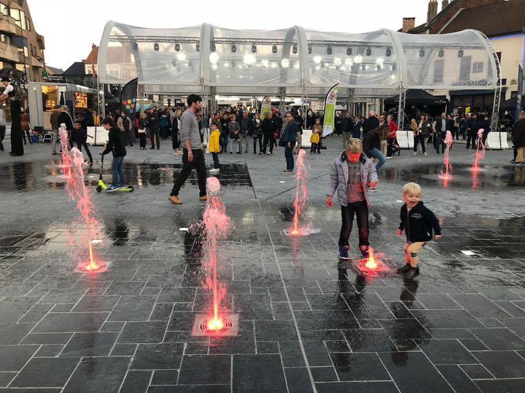 De nieuwe fonteinen vielen ook bij de jongsten in de smaak.
