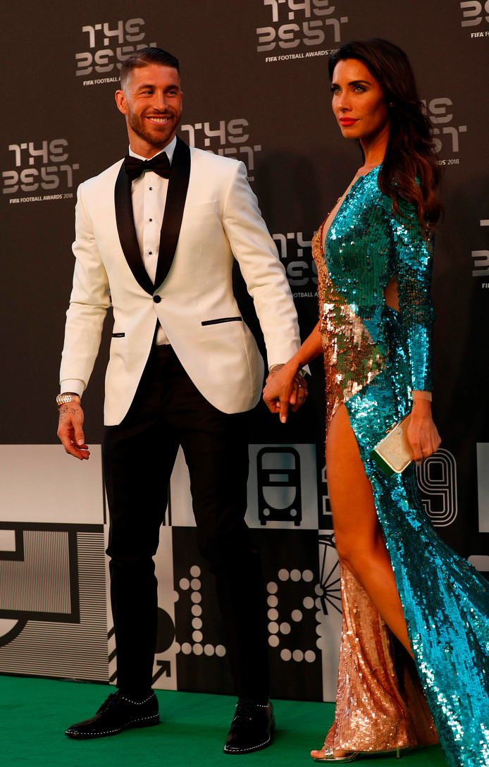 Sergio Ramos en Pilar Rubio.