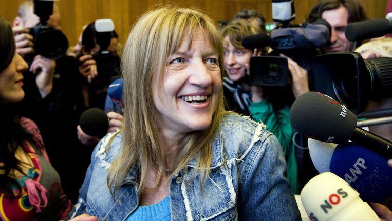 Lucia de Berk, op de dag van haar vrijspraak in 2010. Beeld epa