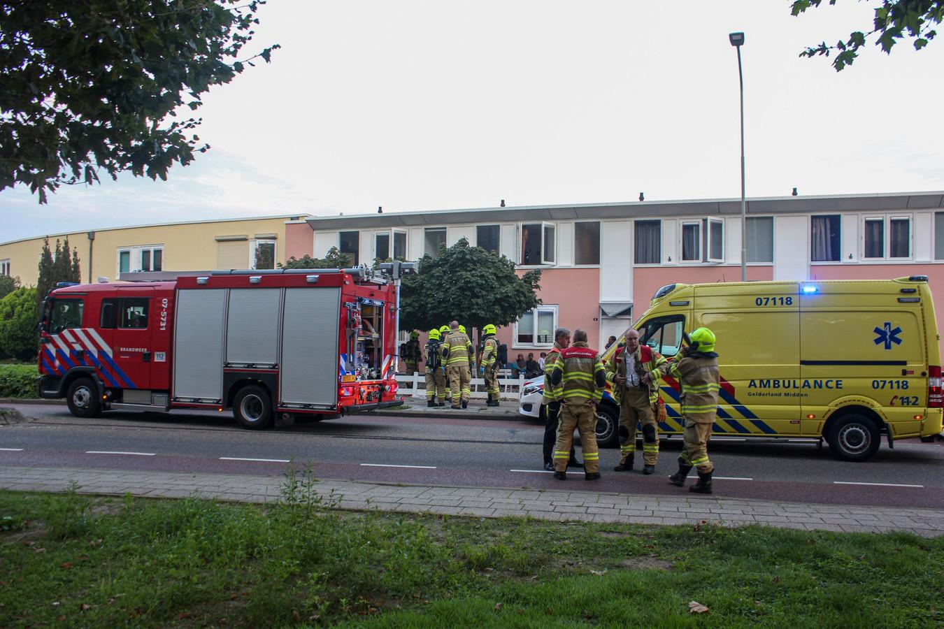 Hulpdiensten aan de Monseigneur Bekkerslaan in Doesburg