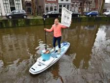 Goudse Janneke wil met afvalproject op supboard ook naar andere steden