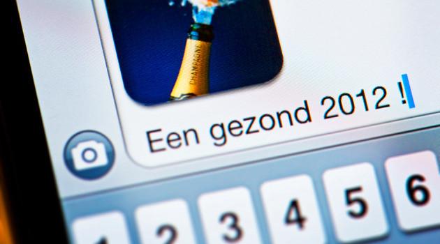 Digitale nieuwjaarswens via sms/mms.