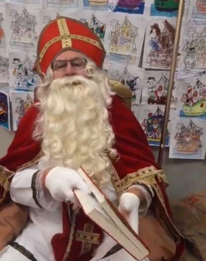 Sinterklaas organiseerde zaterdag een livestream in Zelzate.