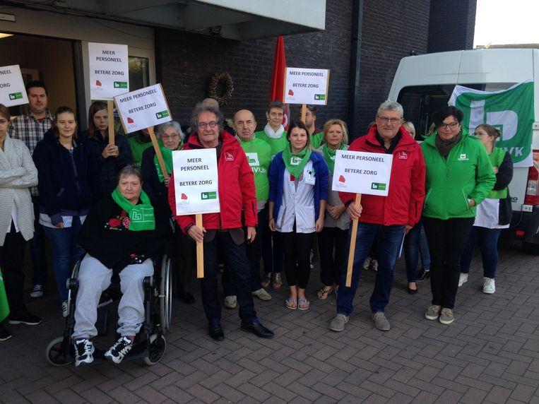 Personeelsleden en bewoners van Hersteloord Crombeenerf voerden drie weken geleden samen actie.
