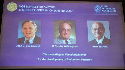 Nobelprijs Chemie gaat naar wetenschappers die onze wereld 'oplaadbaar' maakten
