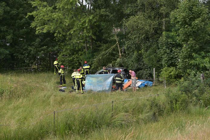 Ongeval bij de A59.
