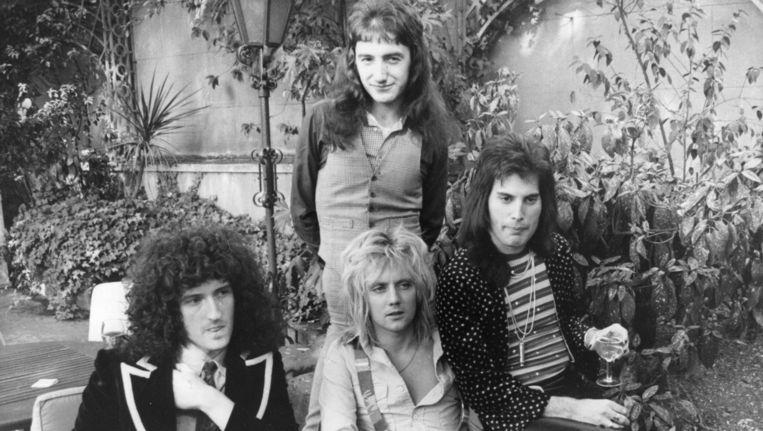 Queen in 1976. Beeld null