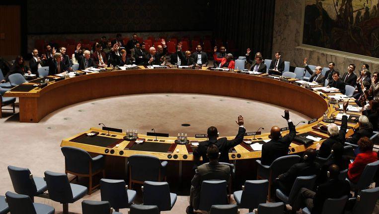 Bijeenkomst van de VN Veiligheidsraad. Beeld reuters