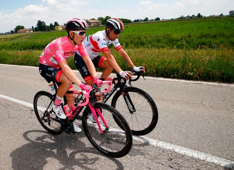 Voor Valerio Conti was het opnieuw een ontspannen dag in de roze trui.