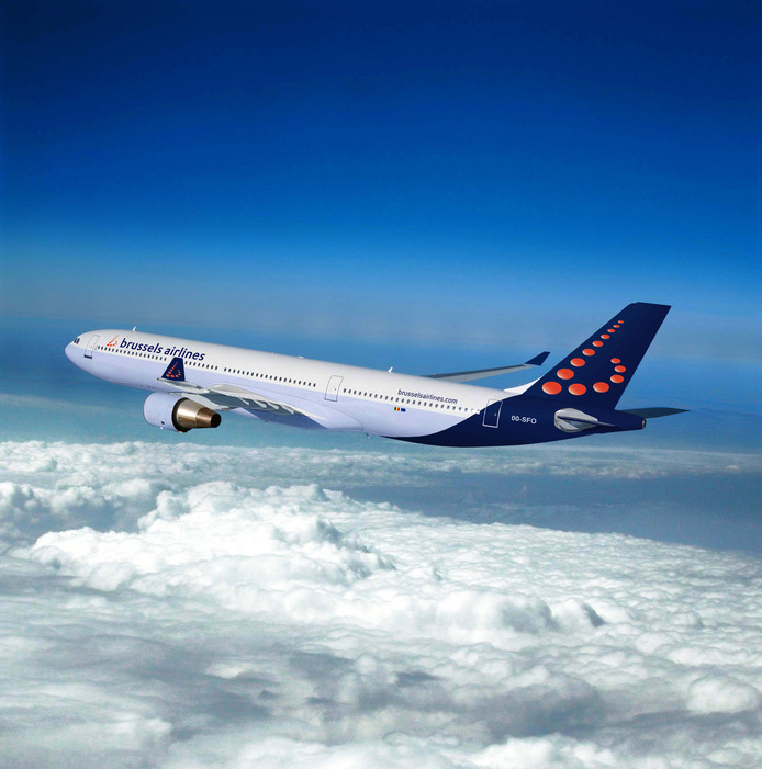 Vliegtuis Brussels Airlines  A330 Kosteloos