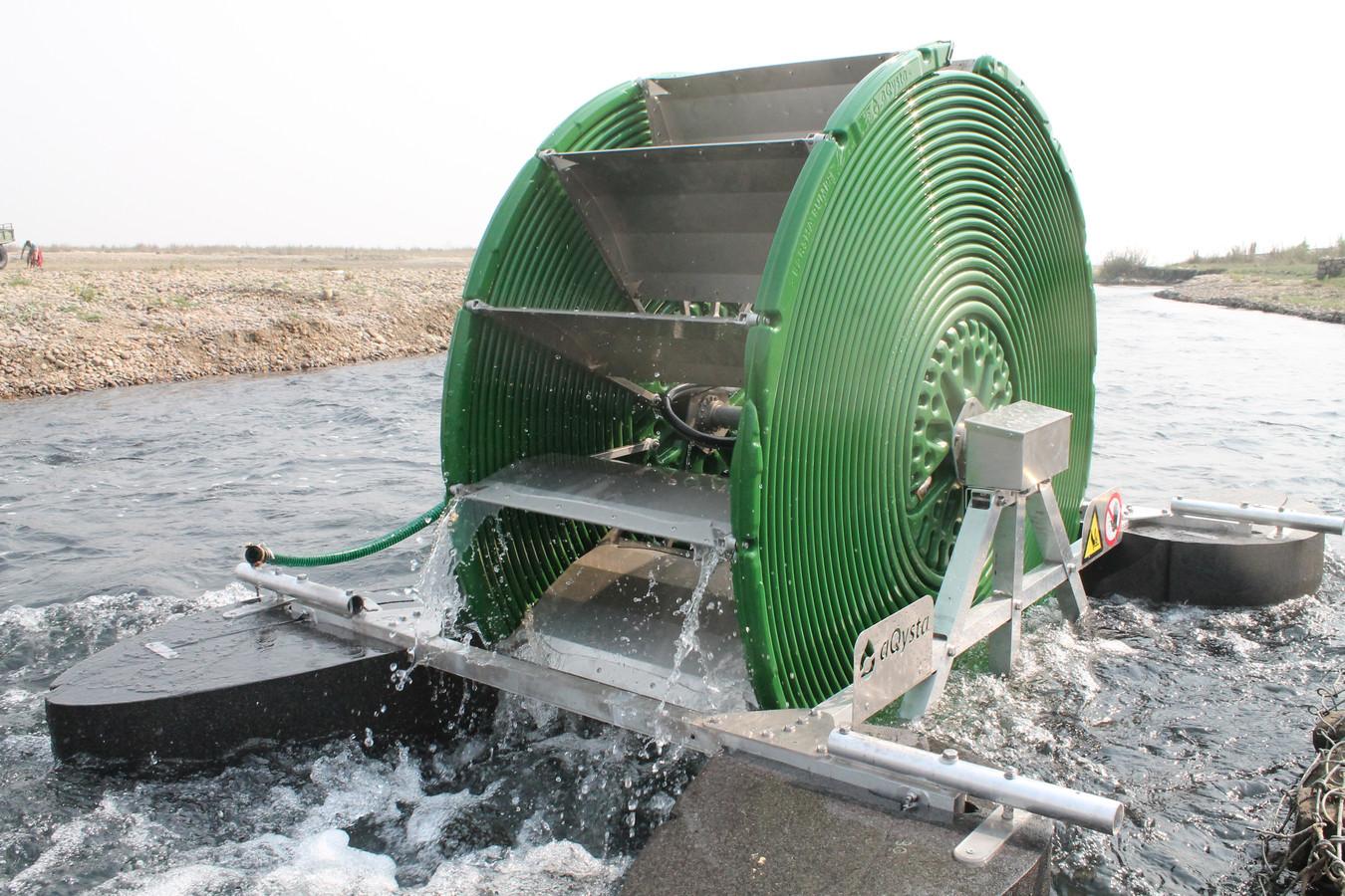 Een duurzame waterpomp van de Delftse startup aQysta.