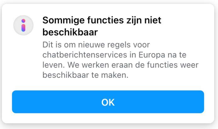 Screenshot Facebook Messenger