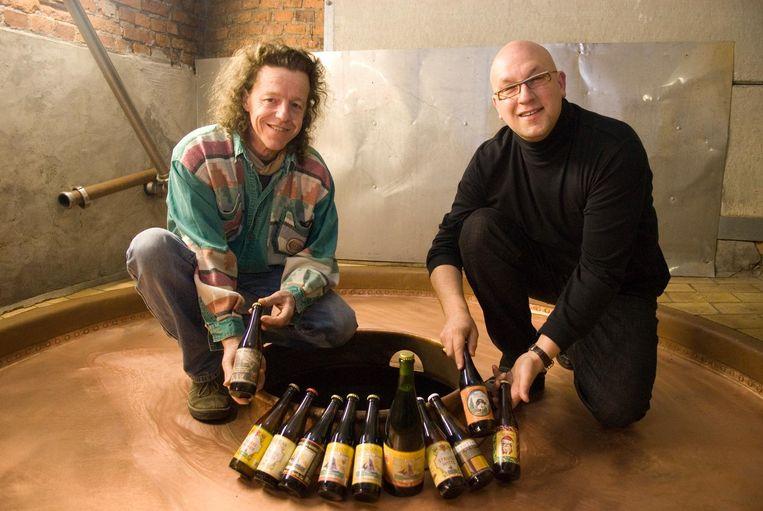 Twee oprichters van De Struise Brouwers: Urbain Coutteau en Carlo Grootaerts.