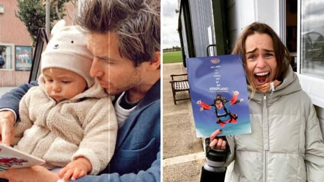 SHOWBITS. Matteo Simoni geniet van quality time met zijn dochter en Emilia Clarke springt uit een vliegtuig