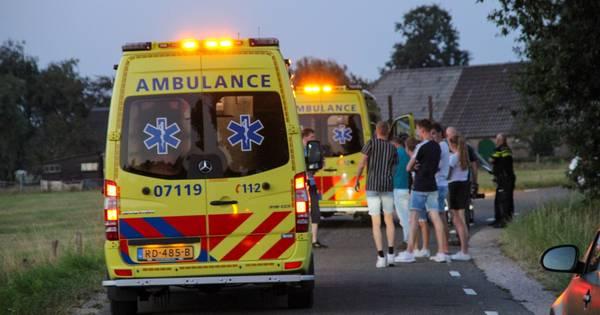 Twee gewonden bij scooterongeluk in buitengebied Kootwijkerbroek.