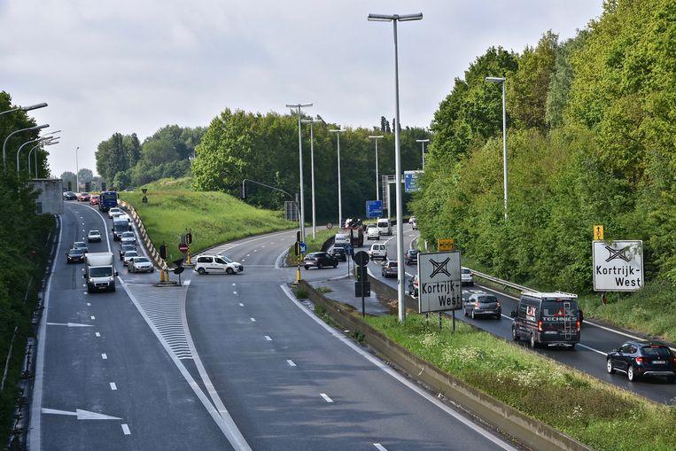 De R8 in Kortrijk.
