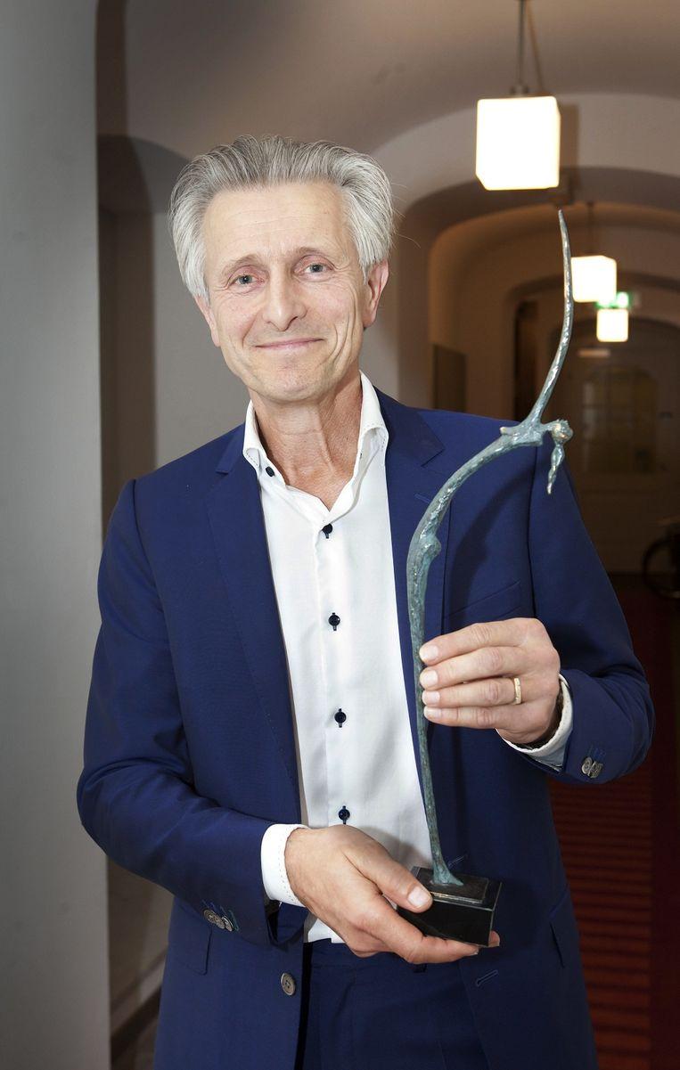 Groen is vrijdagavond in het Academiegebouw van de Universiteit Utrecht gehuldigd. Beeld Maarten Hartman