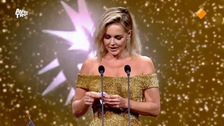 De immer stralende Chantal Janzen, voor de zesde maal tot populairste vrouwelijke presentator verkozen. Beeld