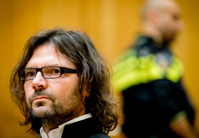 Advocaat Job Knoester tijdens de zaak tegen zijn cliënt Jos de G. in de zaak Nicole van den Hurk.