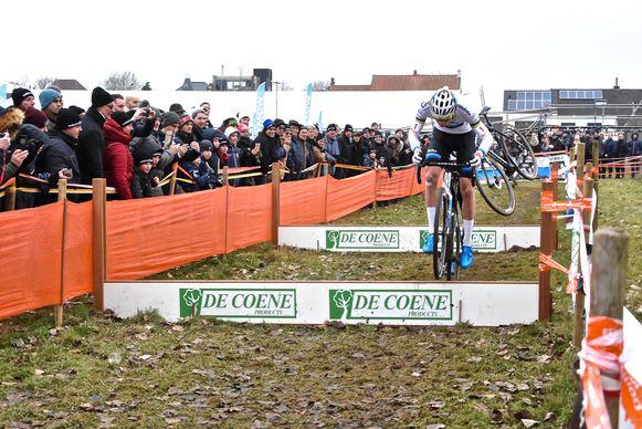 Hexia cyclocross Gullegem - Mathieu van der Poel in actie
