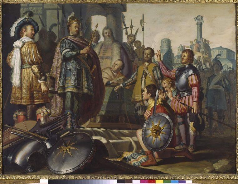 Rembrandt, Leids historiestuk, 1626. Beeld Museum de Lakenhal