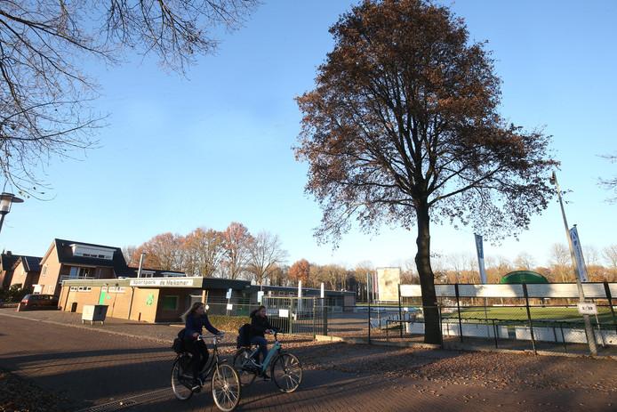 De accommodatie van voetbalclub Sprinkhanen.