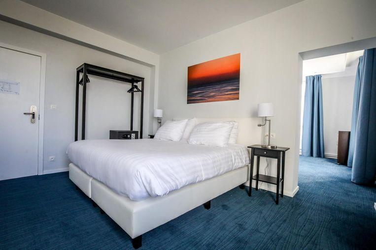 Een nieuwe kamer in het Thermae Palace Hotel.