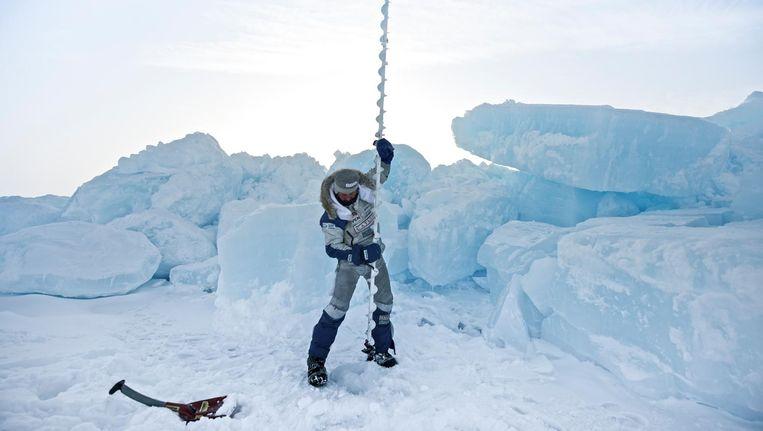 Tijdens de vorige expeditie van Bernice Notenboom op de Noordpool. Beeld